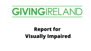 Giving Ireland 2020 Report for Visually Impaired