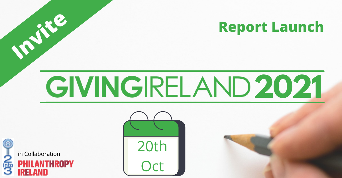 Register for Giving Ireland Report Launch 2021